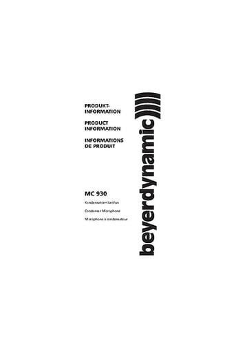 beyerdynamic MC-930 Stereo Set