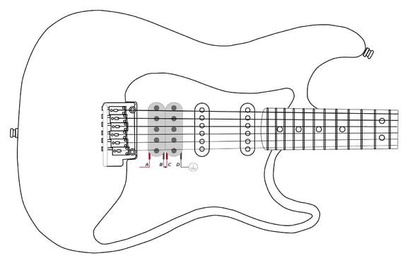 Schaltplan Micro E Gitarre