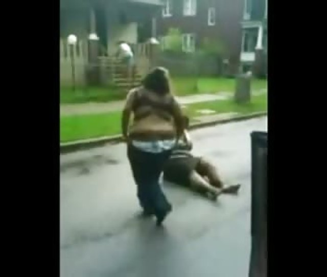 Fat Girls So Fat They Cant Fight Stripped Nearly Naked In The Street Theync
