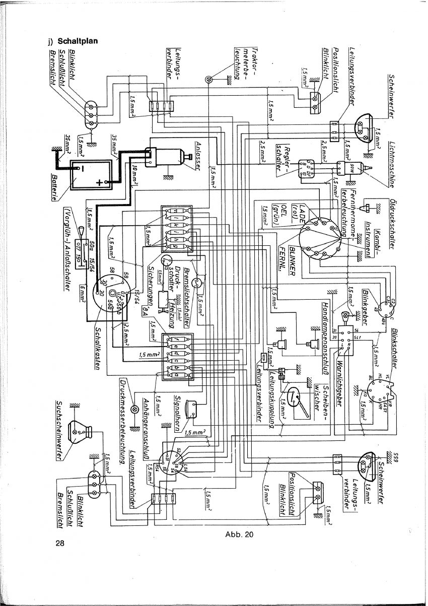Elektrisches Schema Fur Anhanger