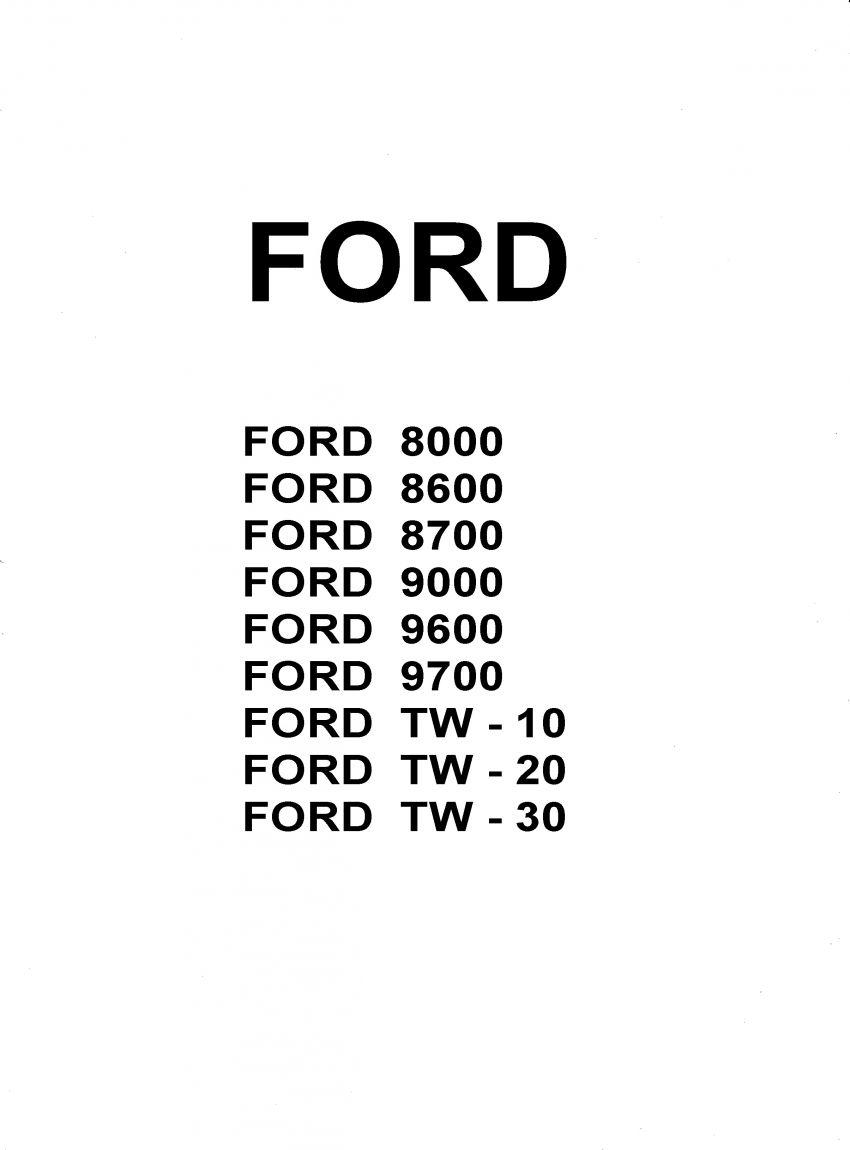 werkplaatshandboek Ford series TW, 8700, 9700, 8600, 9600