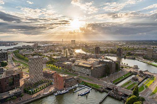 Zonsondergang uitzicht Euromast Rotterdam