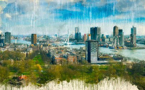 Rotterdam Geschilderde Skyline