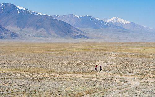 Fietsers op de Pamir highway
