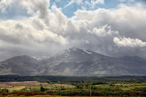 Spean vallei met Ben Nevis (Highlands, Schotland)