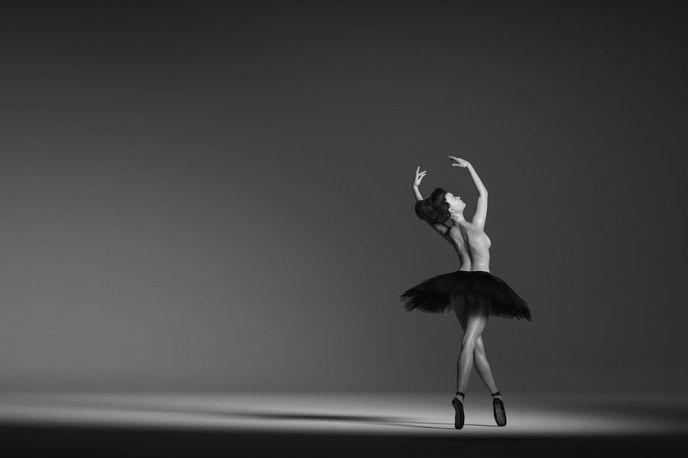 Ballerina in zwart wit