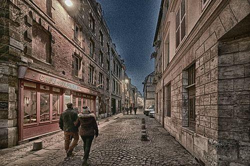 Avond in de stad