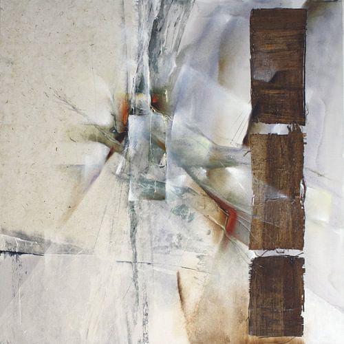 Abstrakte Komposition in weiß