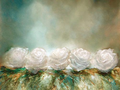 Schneerosen - weiße Rosen wie Schneeflocken