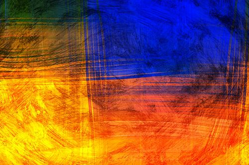 Rode Blauwe Abstract