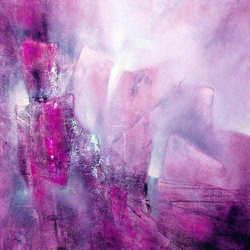 Abstrakte Komposition: Rosa, Pink und ein Hauch von Mint