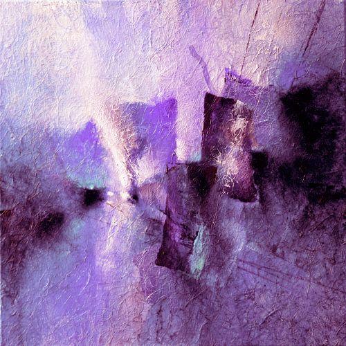 Abstrakte Komposition in violett