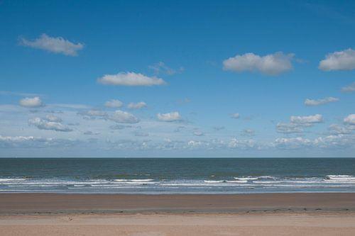 Op het strand in Westende - België