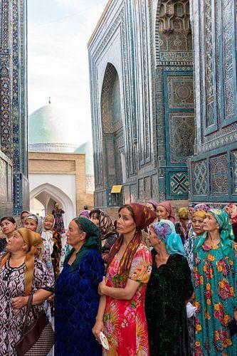 Oezbeekse vrouwen in Samarkand