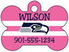 NFL Team Pink Custom Pet Id Dog Tag Personalized w/ Your Pet's Name