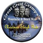 """Leather, Pine and More - Mustache & Beard Wax - """"Christmas Sleigh Ride"""" Blend"""