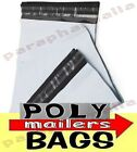 Poly Mailers Shipping Envelopes Plastic White Mailing Bags Qty 25 50 100 200