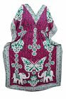 WOMENS MAXI DRESS BEACH COVER UP SLEEPWEAR PRINTED KIMONO CAFTAN NIGHTWEAR