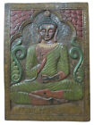 Indian Wall Panel Vitarka Mudra Carved Harmony and Bliss Wall Hanging 36 X 48