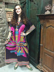 Boho Chic Hippie Cover Up Maxi Caftan Printed Beachwear Nightwear Crepe Kaftan