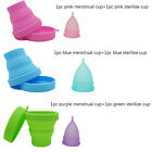 Silicone Menstrual Cups+Sterilizer Cups Womens Period 100% Medical Soft Reusable