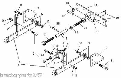 3Pt Fast Hitch Conv Hitch Kit IH/Farmall 100,130,140