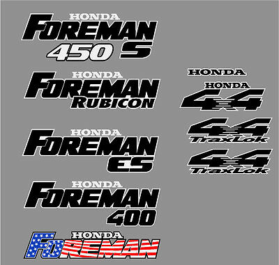 Honda Foreman, Rubicon, 450s, ES, 400 decal set
