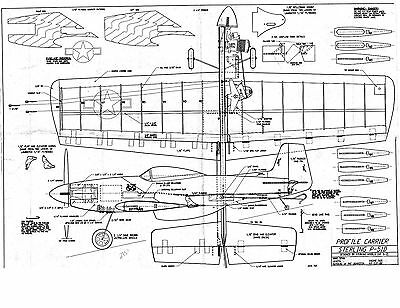 P-51 MUSTANG Sterling Model airplane kit plan 45