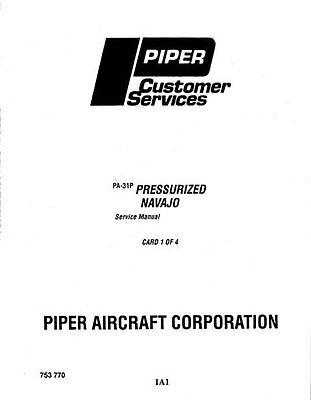 Piper Cheyenne Service Manual PA-31T/31T1/31T2 Part Number