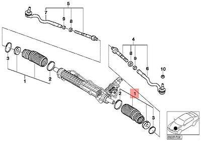 BMW 320D Steering Rack 7806501298