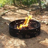 "Fire Ring with Tripod 19"" Cooking Grate, Outdoor Camping ..."