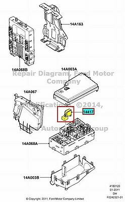 One (1) FORD Multi-Use Fuse Relay OEM #F57B-14B192-AA (5 Post)