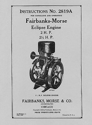 "Instructions for Erecting Fairbanks-Morse Type ""WG"