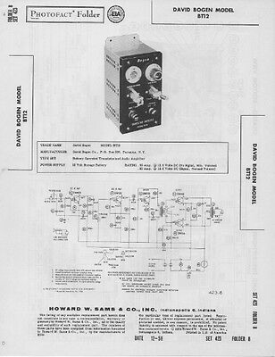 1958 The Fisher 20-A Audio Amplifier Radio Service Manual