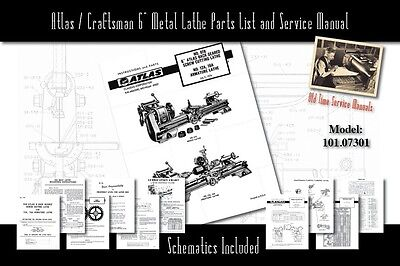 ATLAS/CRAFTSMAN 10-F Series Metal Lathe Parts Manual 0043