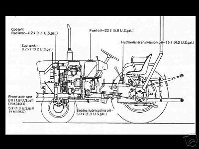 KUBOTA L305 L305D L 305 DT TRACTOR DIAGRAM PARTS MANUAL