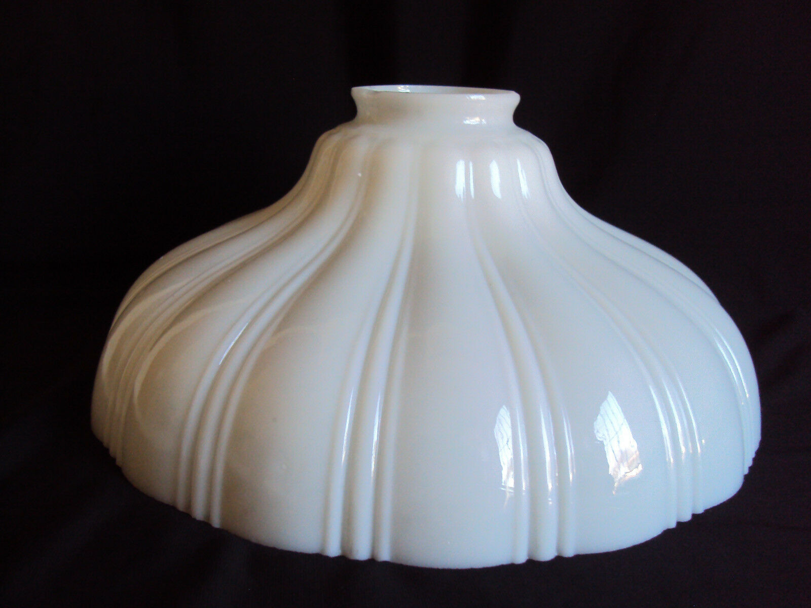 Vintage White Glass Hanging Swag Lamp Parts Shade  $19.99