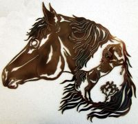 Horse Stallion Western Metal Art Rodeo Ranch Home Rustic ...