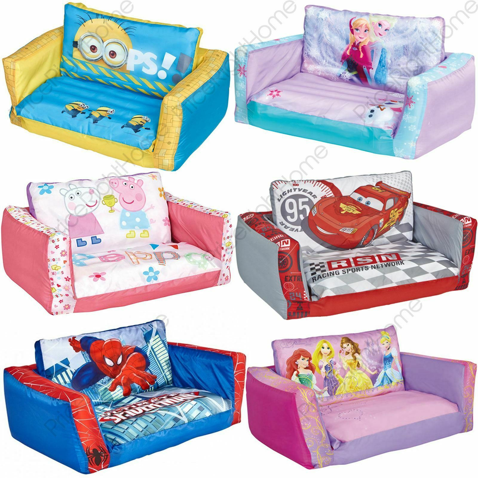 mickey mouse flip out sofa australia circular leather sofas range inflatable kids room new minions