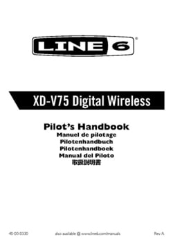 Line6 XD-V75TR Wireless-System