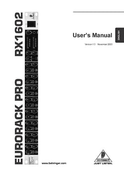 Behringer RX1602 Eurorack Pro Line-Mixer