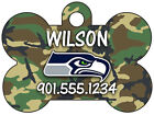 NFL Camo Dog Tag Pet ID Tag Personalized w/ Your Pet's Name & Number