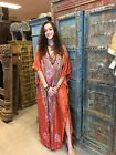 BOHEMIAN WOMENS MAXI CAFTAN KASHMIRI FLORAL EMBROIDERED EVENING WEAR BEACH DRESS