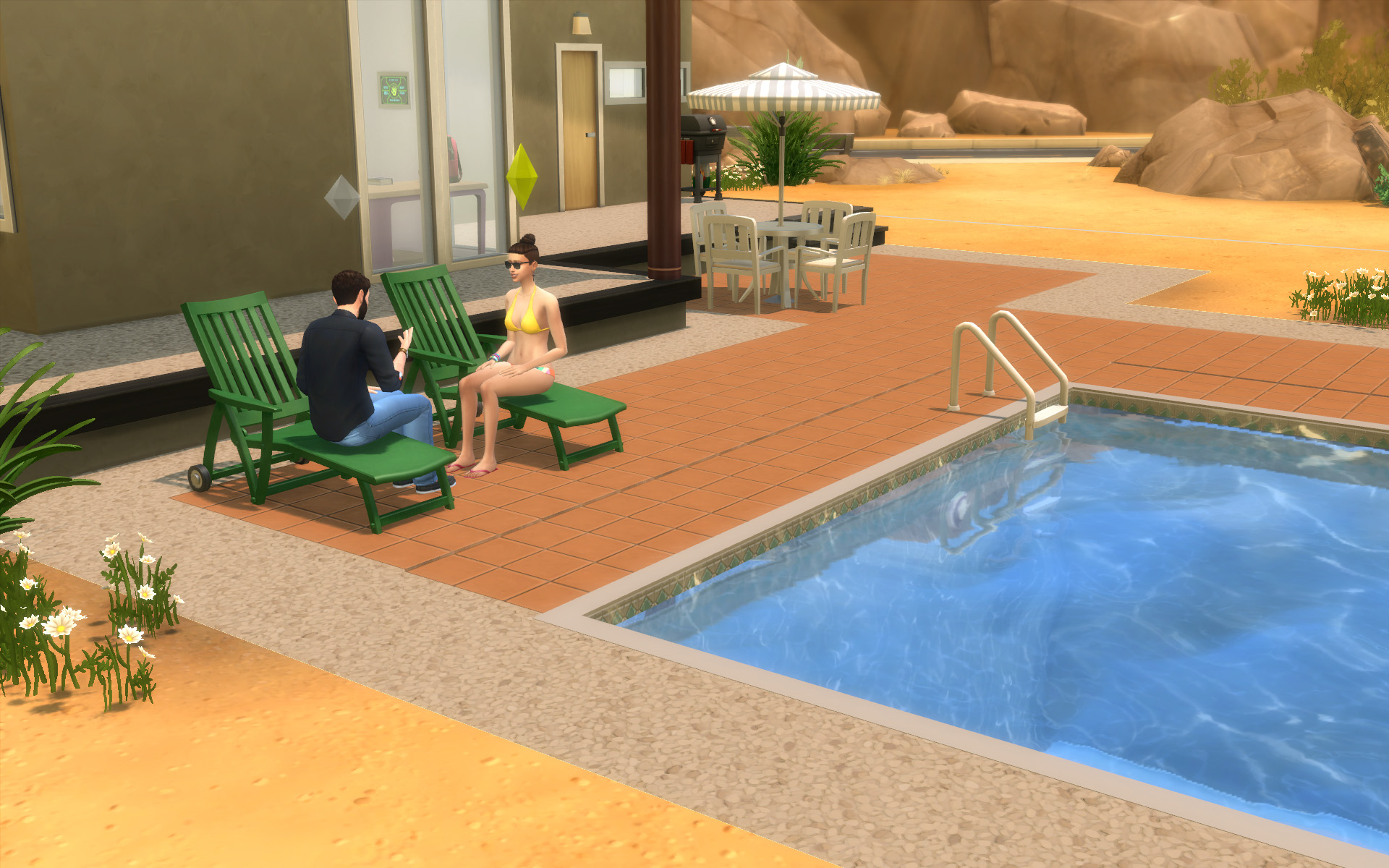 Chairs For Pool Mod The Sims Ts2 To Ts4 Poolside Loungechairs