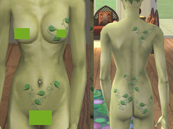 Hip vines tattoo. You need to download both for your plantsim to maintain these vines.
