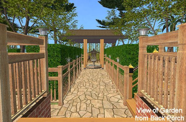 mod sims - 'asian touch' 2-story