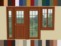 Mod The Sims - Paneled Doors and Windows Set by Raynuss ...