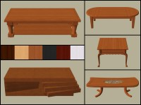Mod The Sims - Base Game Coffee Tables Recoloured - Part 1