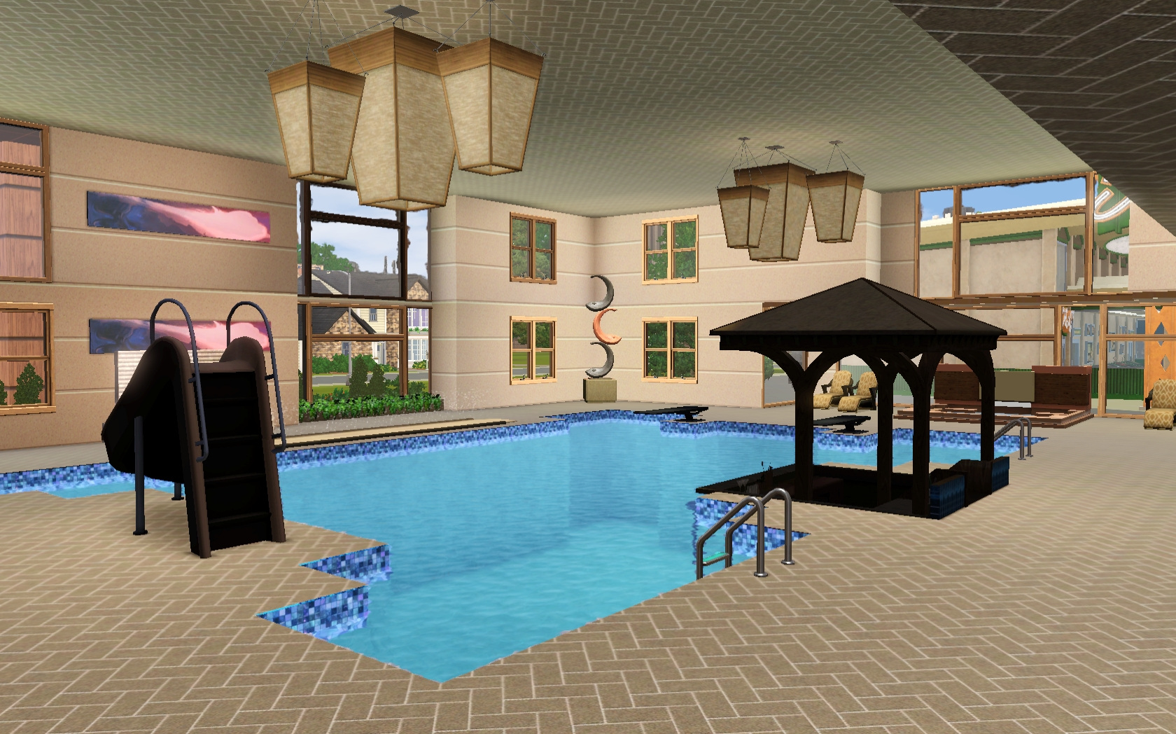 Sims 3 Pool Rund Drehen Mod The Sims Liquid H2o Indoor Pool