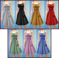 Mod The Sims - H&M Lines Dress to The Sims 4